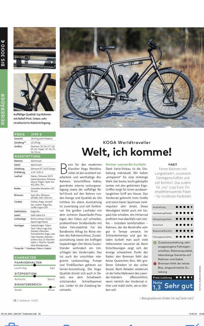 Duitse Test Koga Wordltraveller 2021