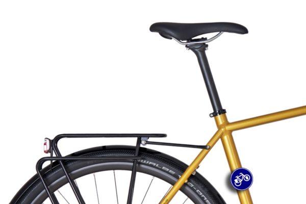 idworx Grandone travel sparkling yellow zadel, bagagedrager en achterlicht