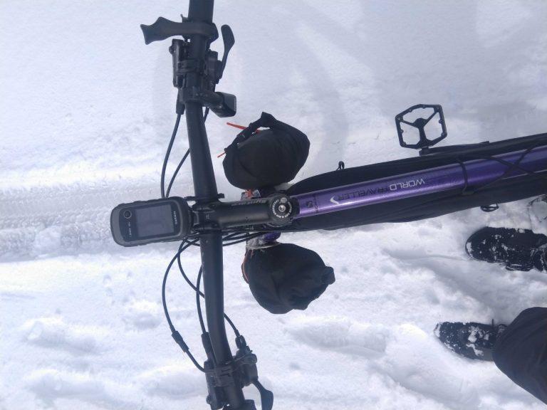 Koga Worldtraveller 2.0 in de sneeuw