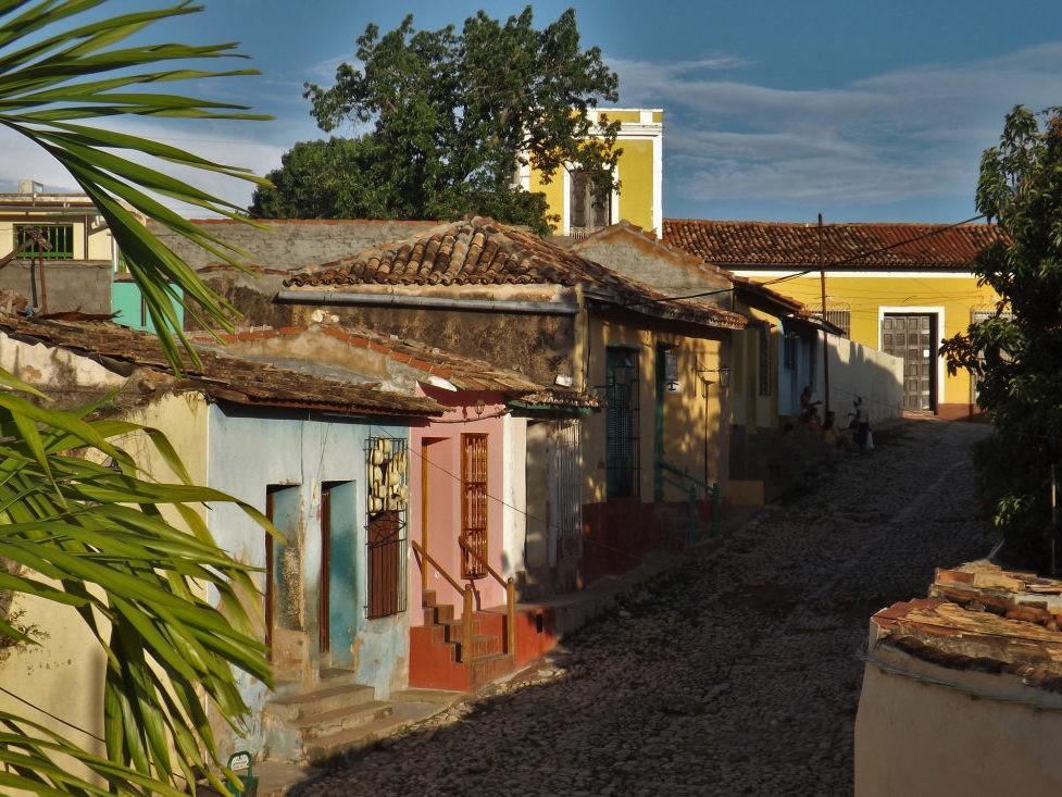 Authentieke kleine huizen op Cuba