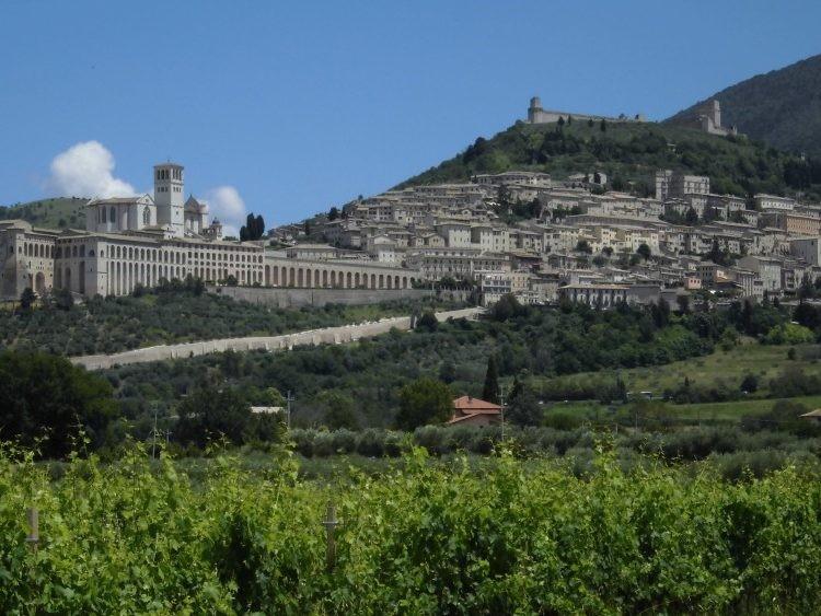 Uitzicht over de stad Assisi