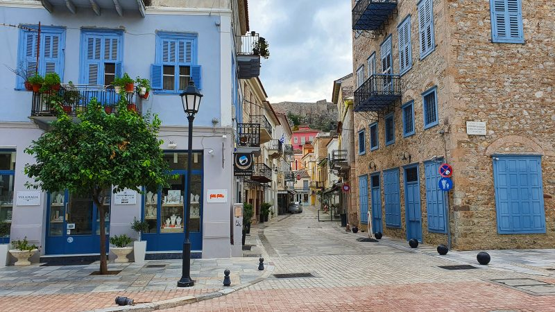 Uitgestorven grieks dorpje nafplion